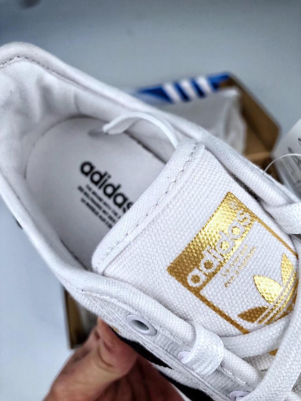 原装正品✔️阿迪达斯 三叶草Adidas superstar 尼龙布软底贝壳头帆布鞋 白黑金标 男女鞋 S82569 ,正品代购版本 超软正确蓝色中底
